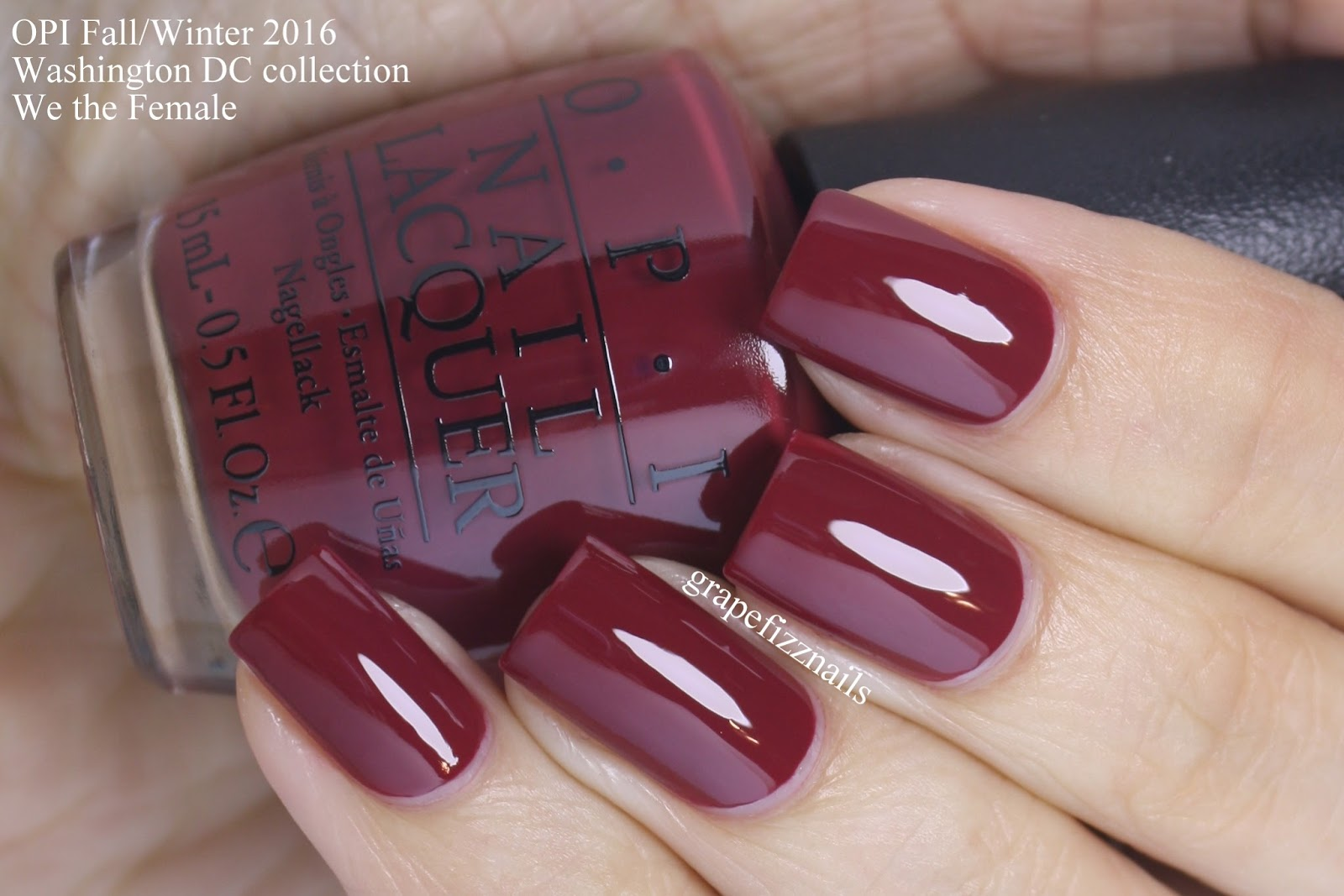 Grape Fizz Nails: OPI Washington DC Collection for Fall/Winter 2016