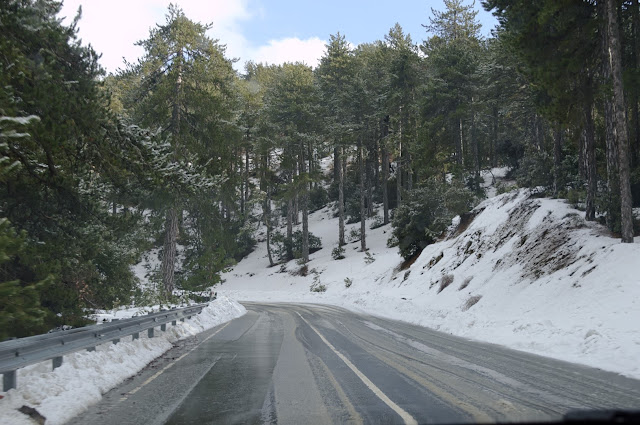 Troodos snow Cyprus.