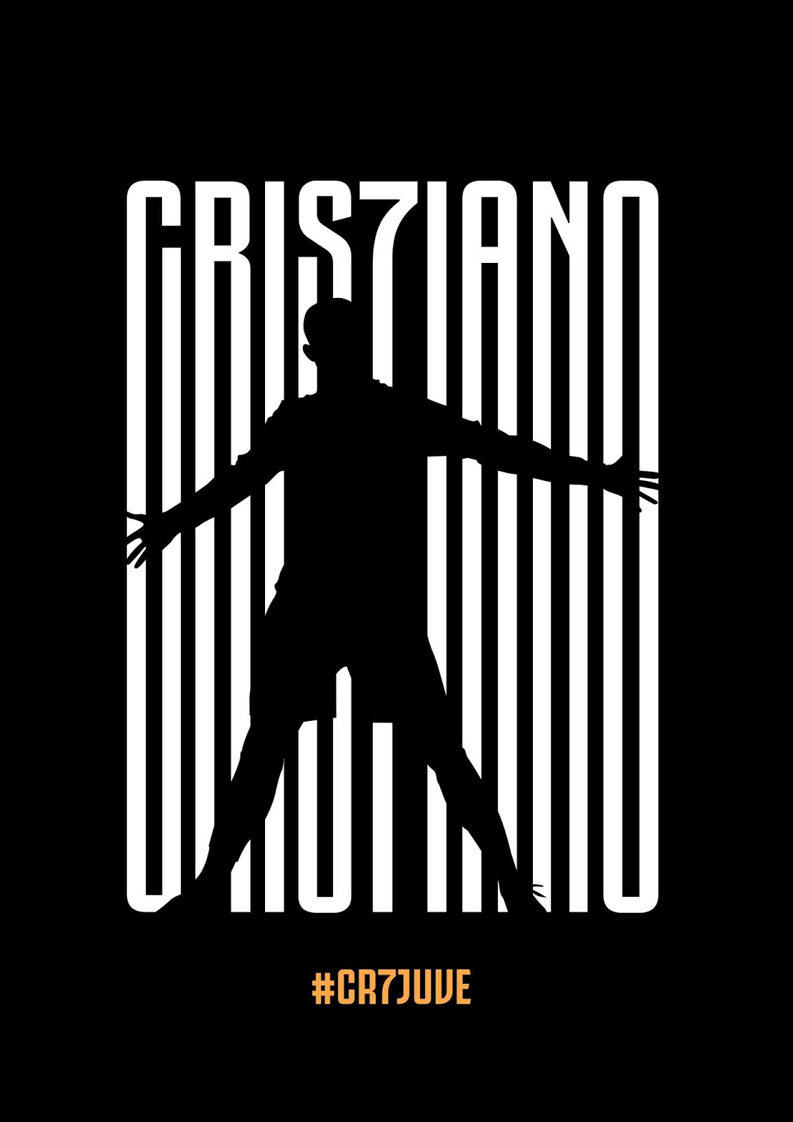 Free Download #CR7JUVE Style Poster Design - PSD FIle