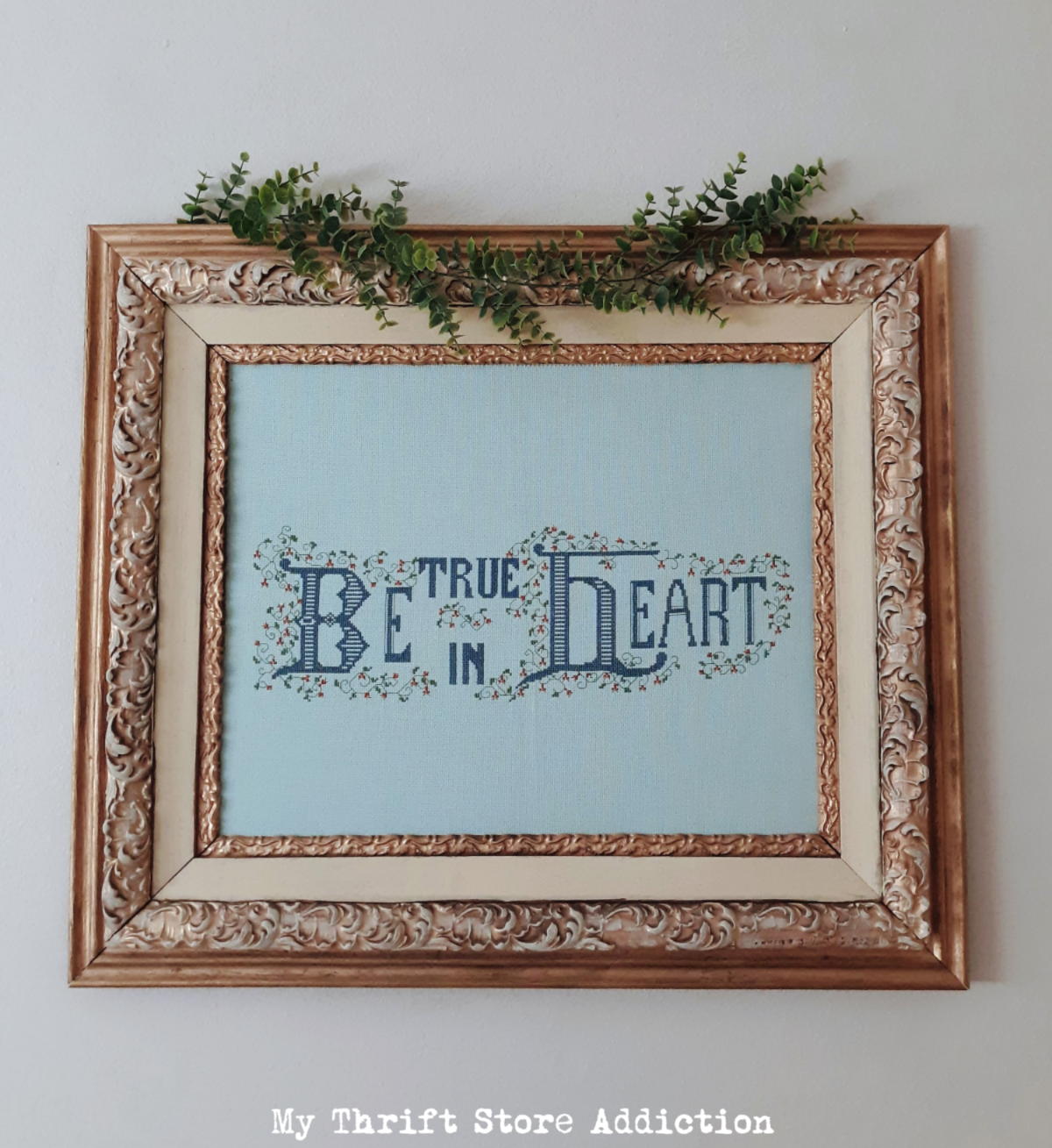 vintage cross-stitch refresh