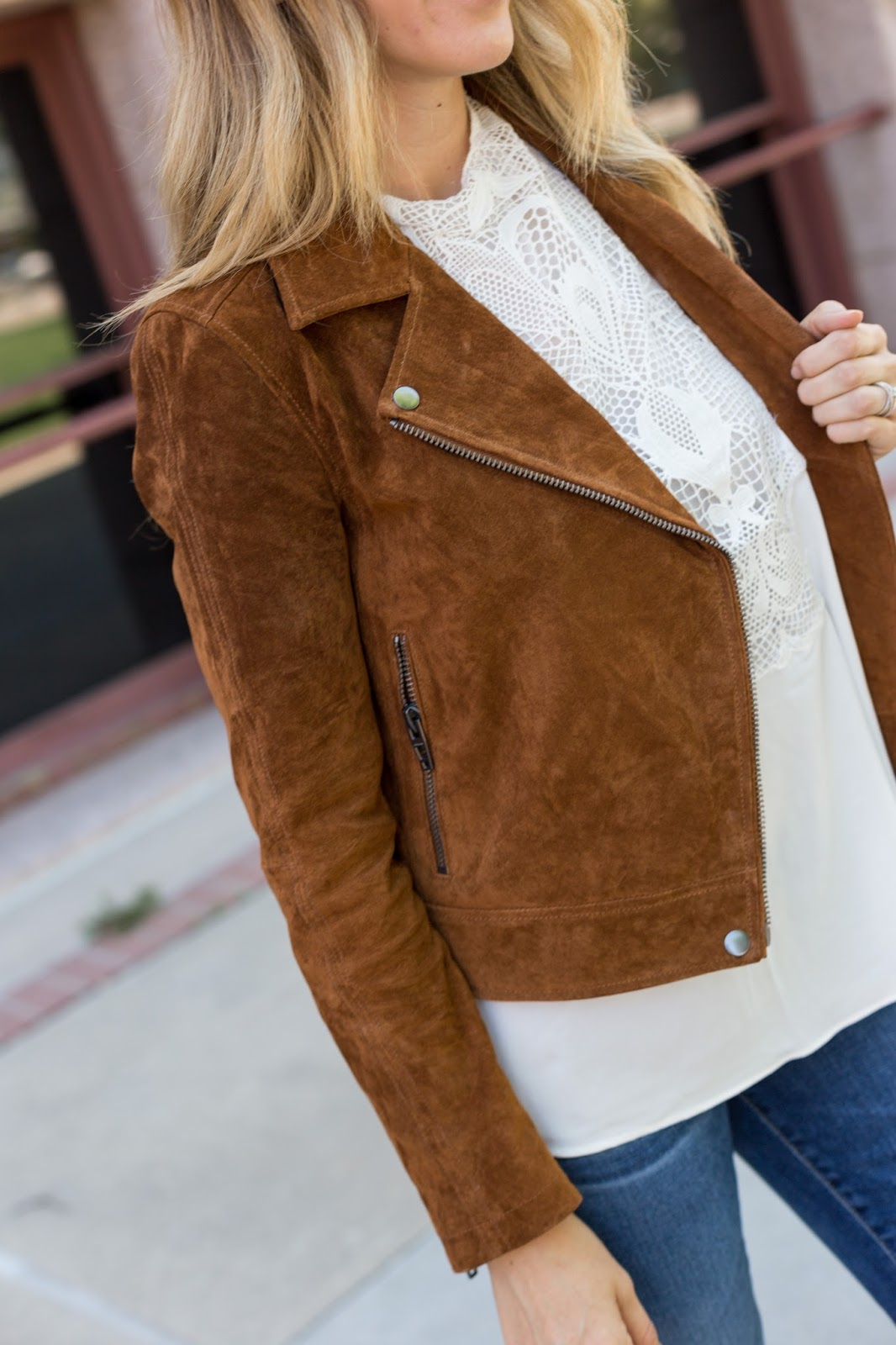 Spice Colored Suede for Fall! - The Must Have Brown Suede Jacket For Fall by Colorado fashion blog