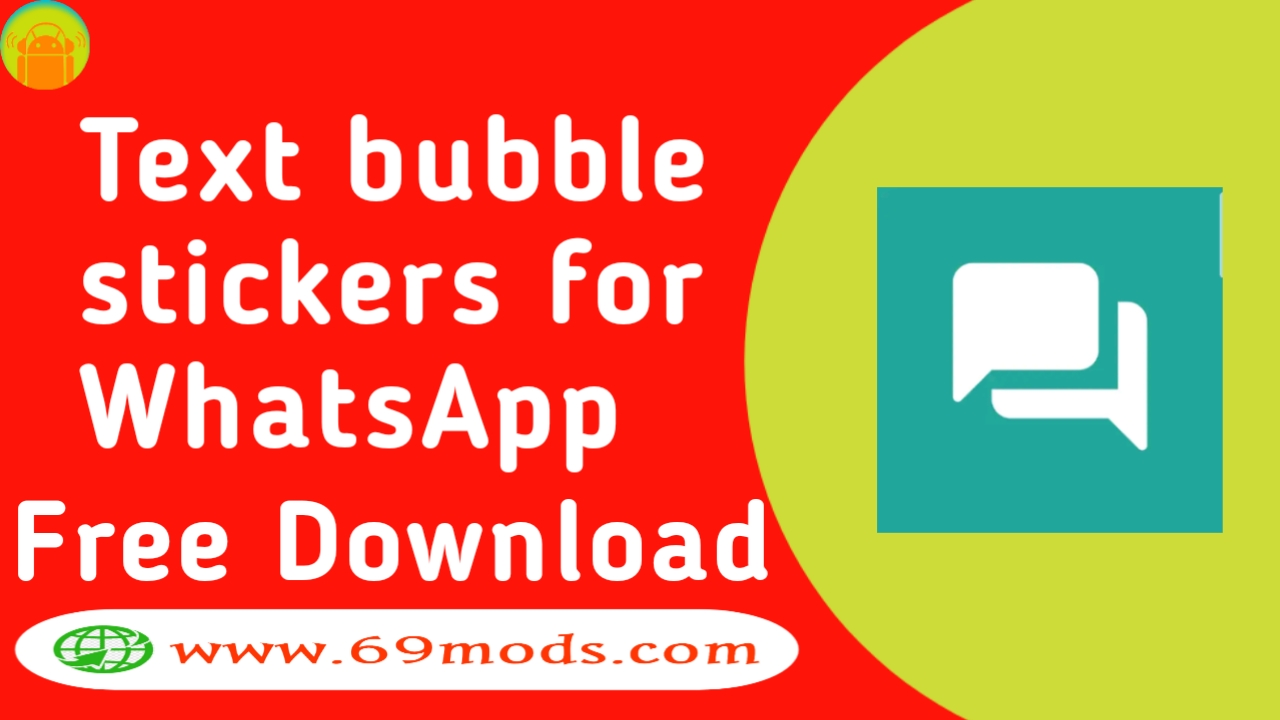 Text bubble stickers for WhatsApp Apk download