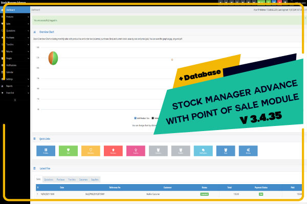 Stock Manager Advance with Point of Sale Module V 3.4.35 + Database