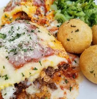 Keto Lasagna Roll-ups And Cheesy Garlic Puffs