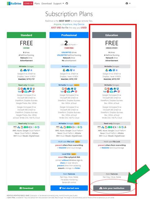 Cách đăng kí RaiDrive Edu miễn phí 1 năm