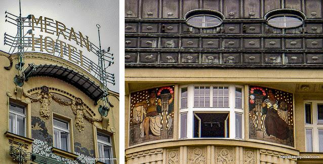 Art Nouveau em Praga: Meran Hotel, Praça Venceslau