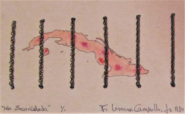 CUBA - Isla Encarcelada - Isla Golpeada y Prisionera (Jailed Island - Beaten and Captive Island) - 1980 by Campello