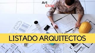 Listado de Arquitectos por el mundo