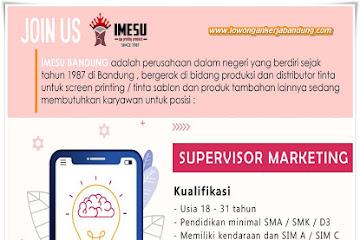Lowongan Kerja Bandung Supervisor Marketing Imesu Sablon