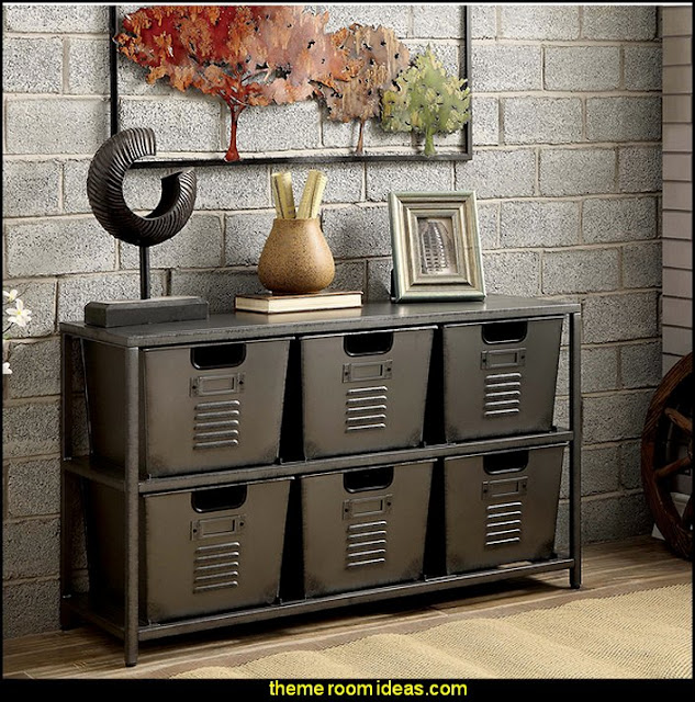 Industrial Gun Metal Storage Shelf   Industrial style decorating ideas - Industrial chic decorating decor - Industrial style furniture - Industrial decor -  Modern Industrial - rustic industrial style decorating - Gears decor - City living urban style - Industrial urban loft decorating ideas - industrial bedroom ideas - vintage industrial home decor - industrial theme decorating - Industrial Steampunk decor