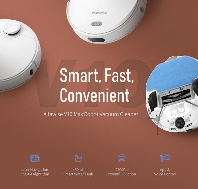 Alfawise V10 Max - O novo robot inteligente de limpeza