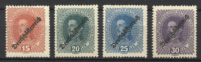 Austria 1918-1919, Issues of the Republic, Overprinted