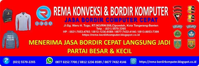 BORDIR SATUAN CIPONDOH KOTA TANGERANG   0813 8053 7399