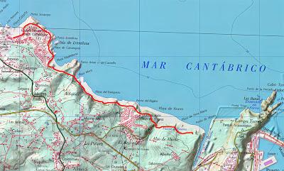 Resultado de imagen de mapa ruta concejo carreño