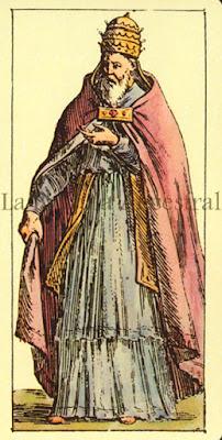 Tarot de Mitelli: El Papa