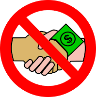 A no money handshake. Wikimedia Commons public domain