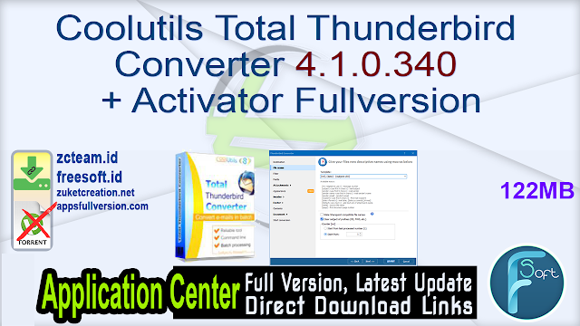 Coolutils Total Thunderbird Converter 4.1.0.340 + Activator Fullversion