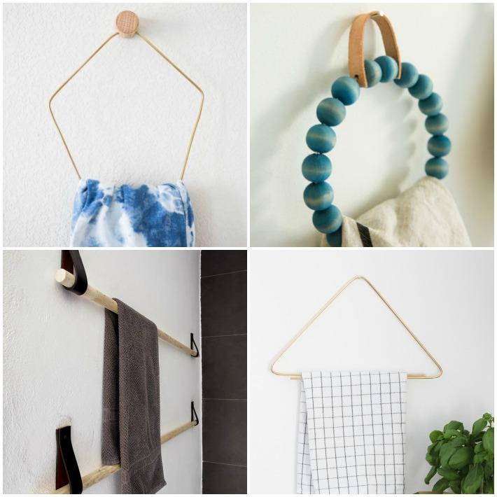 4 diy toalleros de diseño
