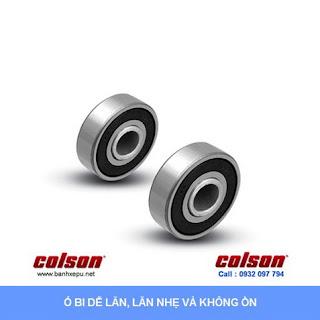 Bánh xe cao su chống tĩnh điện Colson Mỹ trục trơn phi 125 (5 inch) sử dụng ổ bi www.banhxedayhang.net