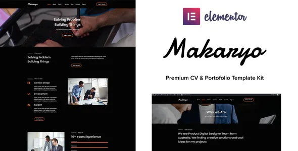 Download CV & Portofolio Elementor Kit