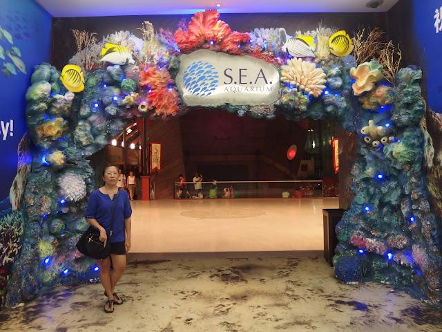 SEA Aquarium Singapore Exhibition Entrance