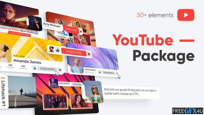 YouTube Package After Effects Project