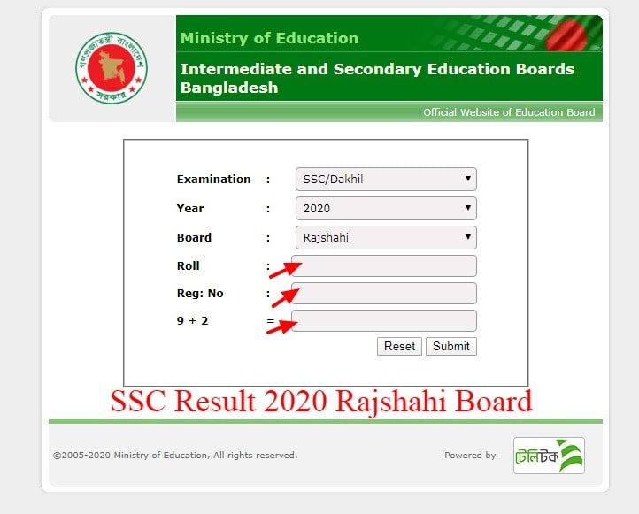 SSC Result 2020 Rajshahi Board With Marksheet