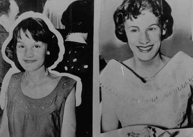 Dua bersaudari Barbara (15 tahun) dan Patricia Grimes (13)