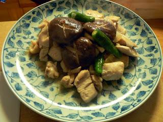 鶏肉の炒め物完成