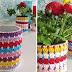 Idea: Macetas recicladas al crochet /Crocheted and repurposed flowerpots!!!