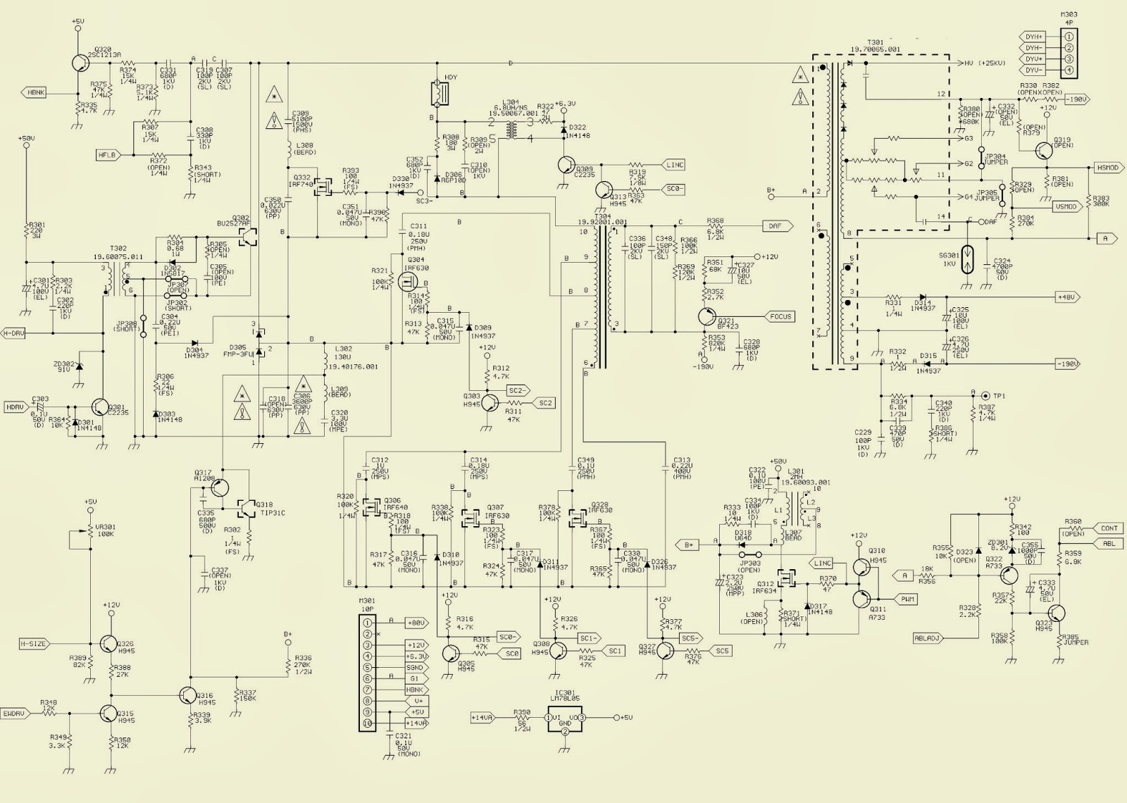 acer benq 17 crt monitor mts1786 horizontal out. Black Bedroom Furniture Sets. Home Design Ideas