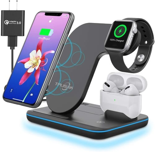 TPLISAK Airpods iPhone Watch 3 in 1 Charging Station