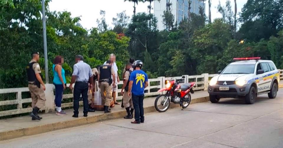 Mulher é contida ao tentar se jogar da ponte em Cataguases - Mídia Mineira