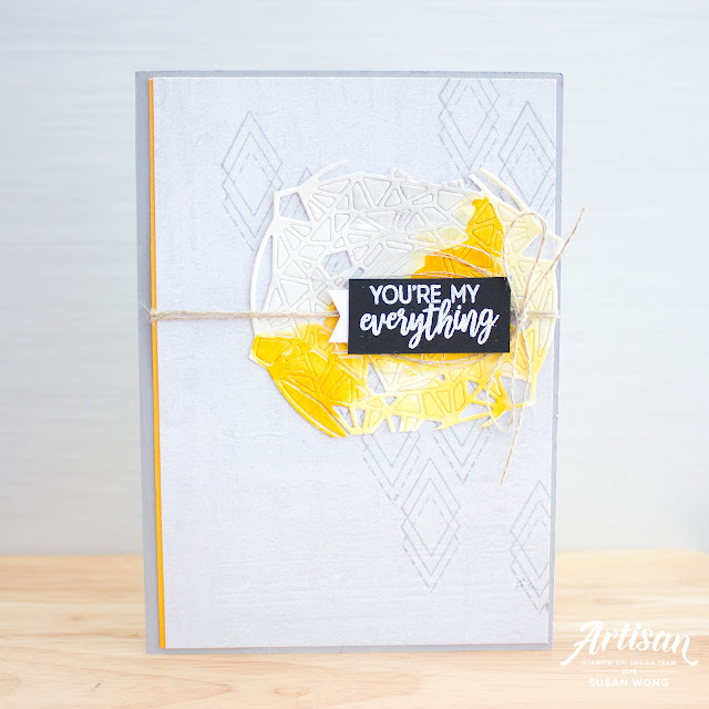 Beautiful Promenade + Beautiful Layers Thinlits by Stampin' Up! - Masculine card - Susan Wong for the Artisan Desgin Team