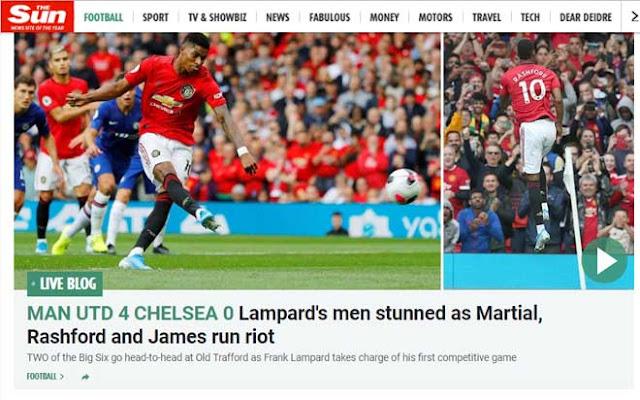 """MU vùi dập Chelsea 4-0: Báo chí Anh phát cuồng, khen 2 """"bom tấn"""" quá hay 2"""