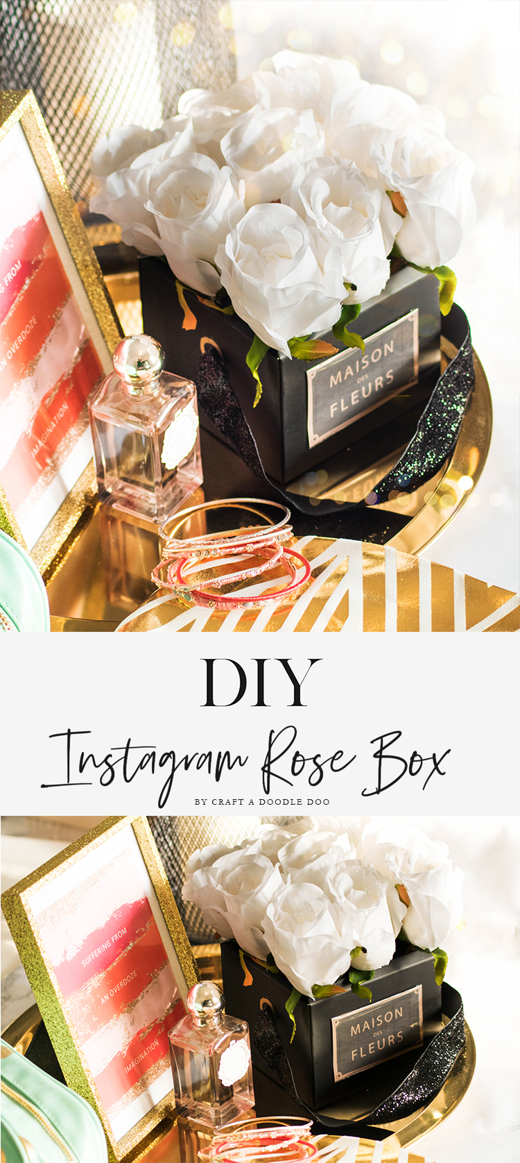 DIY Viral Instragram Rose flower Box #diy #rose #box #viral #home #decor #gifts Rose decor box to make your space and style look expensive!