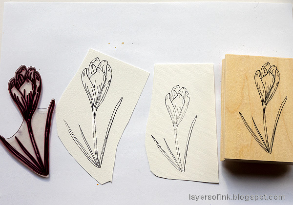 Layers of ink - Mother's Day Card Tutorial by Anna-Karin Evaldsson. Made with Simon Says Stamp Thoughtful Flowers.
