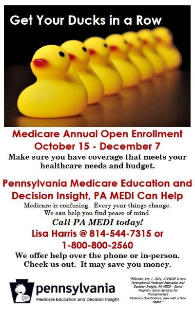 10-27 thru 12-7 Medicare Enrollment Help