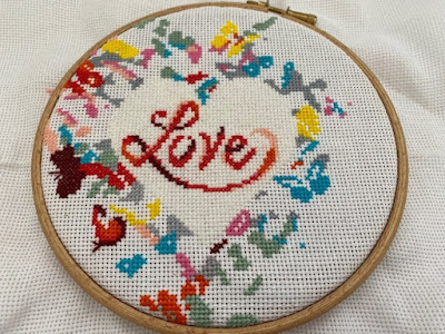 Heart cross stitch by Awesome Pattern Studio