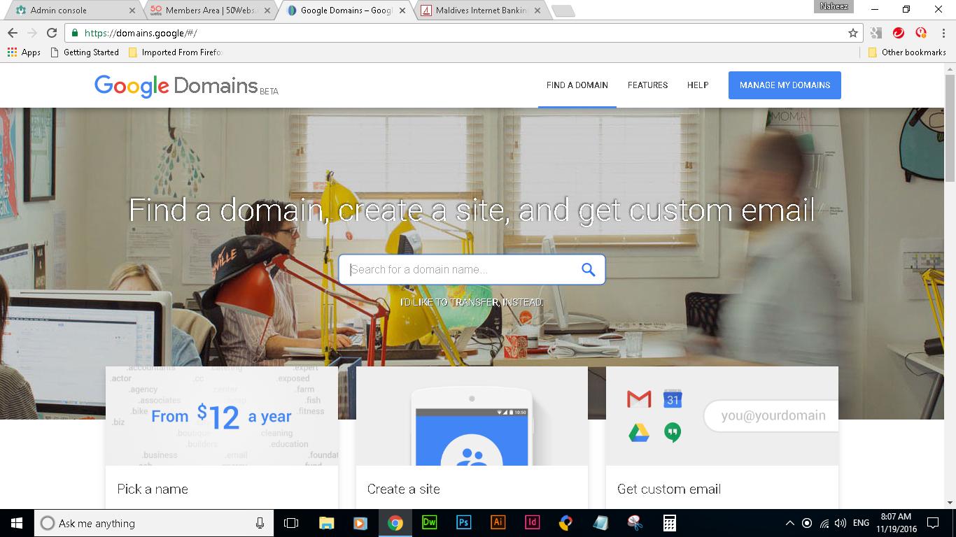 Naheez Thawfeeg's Blog: Google Domains