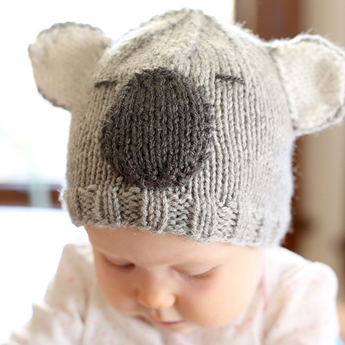Cuddly Koala Hat Knitting Pattern