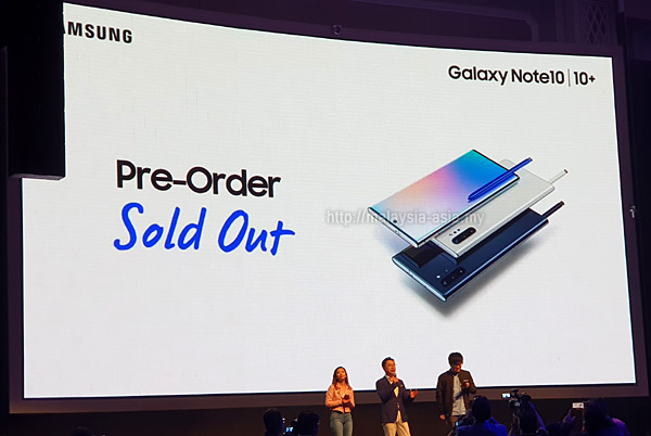 Malaysia Galaxy Note 10 Plus Pre-Order Sold Out