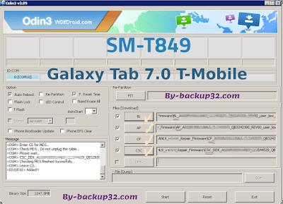 سوفت وير هاتف Galaxy Tab 7.0 T-Mobile موديل SM-T849 روم الاصلاح 4 ملفات تحميل مباشر