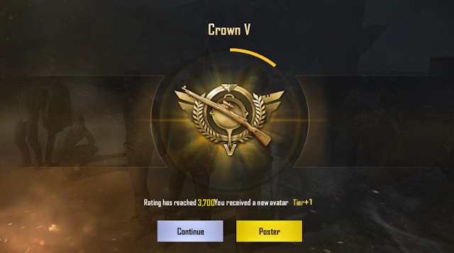 akun pubg crown