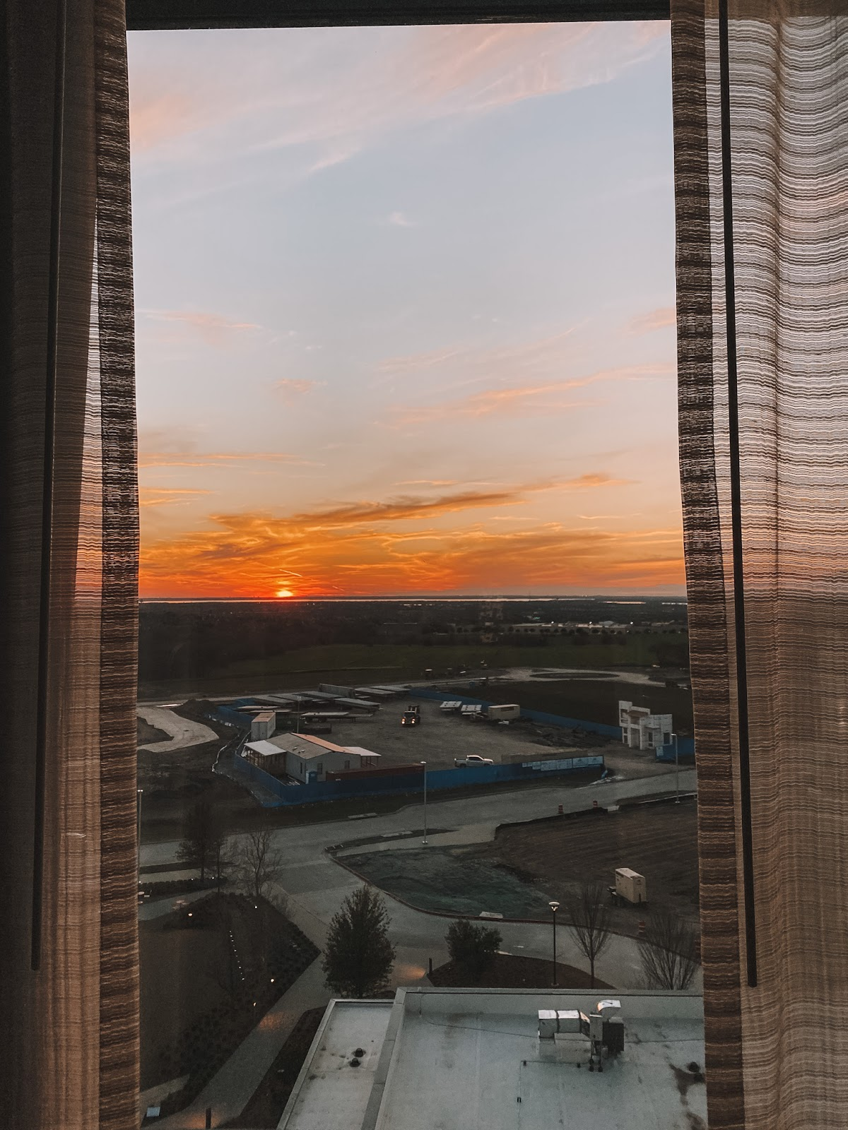 sunset over Frisco, Texas from the AC Hotel by Marriott