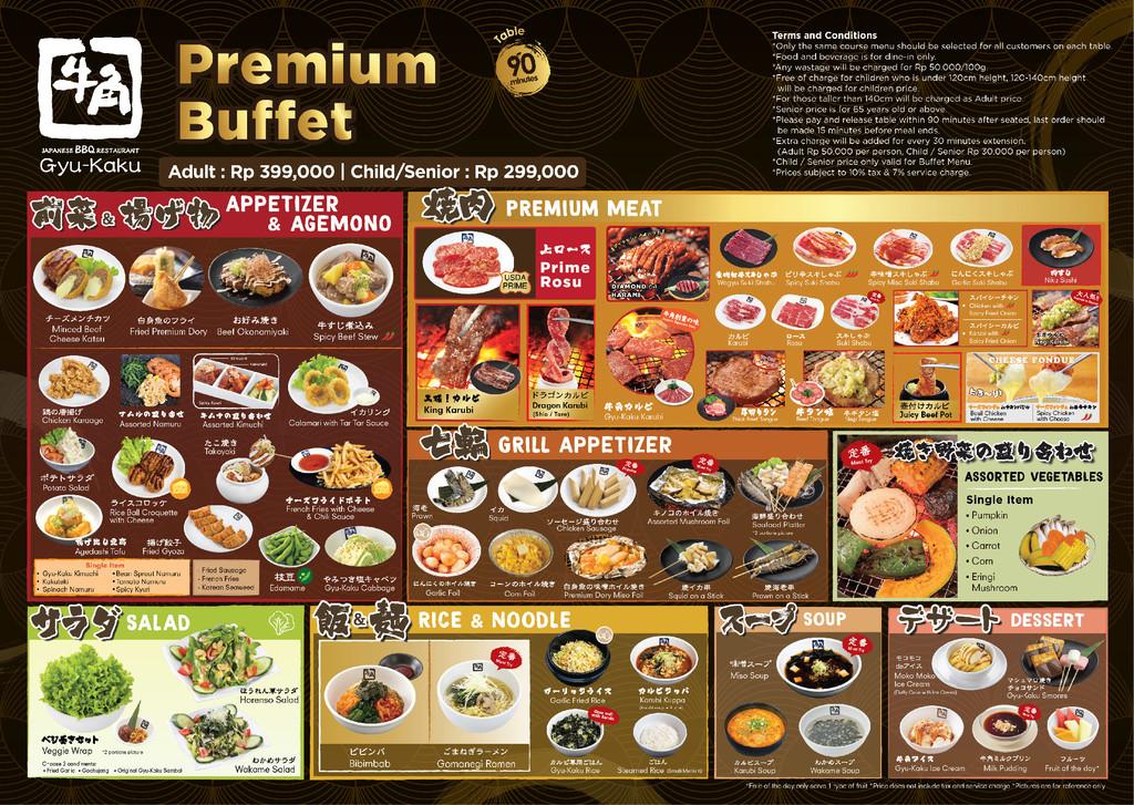 buffet premium menu gyu kaku