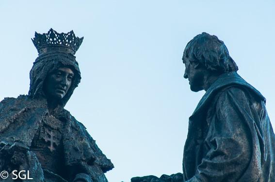 Isabel La Catolica y Cristobal Colon en Granada. Los imprescindibles de Granada
