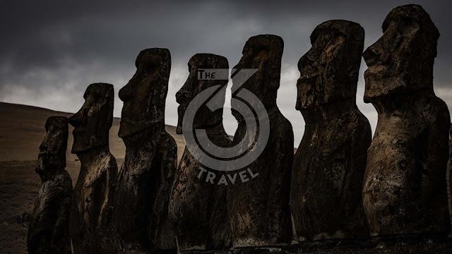 Chile: Easter Island, a replica of a giant statue to repatriate the original