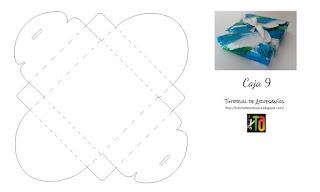 Molde gratis caja de base cuadrada de Tutorial de Artesania