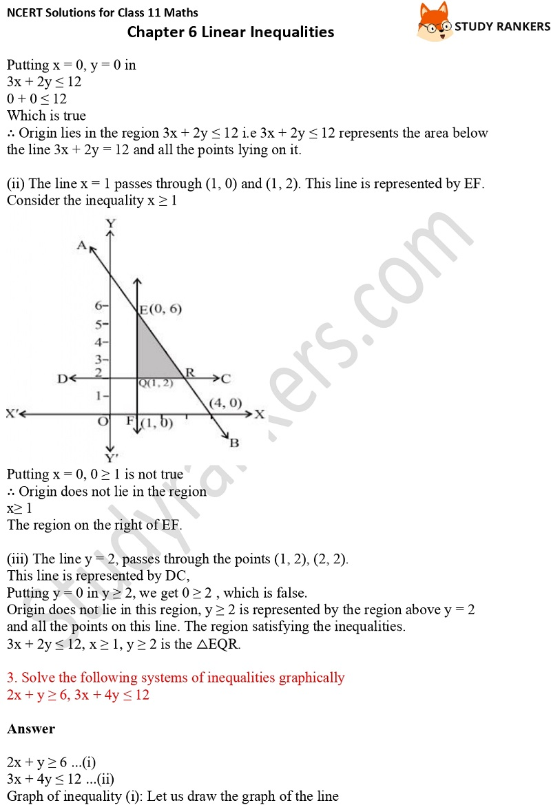 NCERT Solutions for Class 11 Maths Chapter 6 Linear Inequalities 18